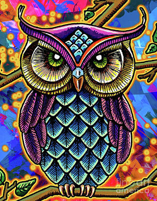 What A Hoot Art Print by Maria Arango