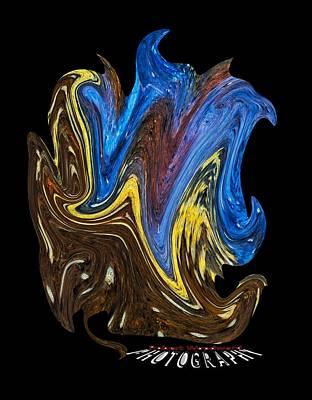 Digital Art - What A Mess Transparancy by Robert Woodward
