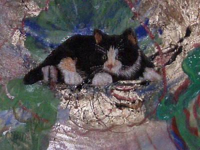 What A Pretty Kitty Print by Anne-Elizabeth Whiteway
