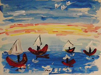 Painting - What A Sailing Day by Mary Carol Williams