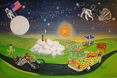 Moon Walk Painting - What A Time It Was by Ann Sokolovich