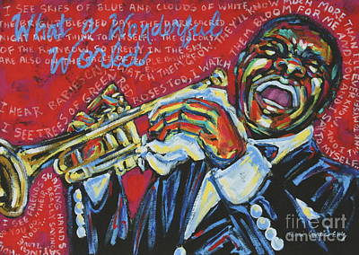 New Orleans Jazz Painting - What A Wonderful World  by Tami Curtis