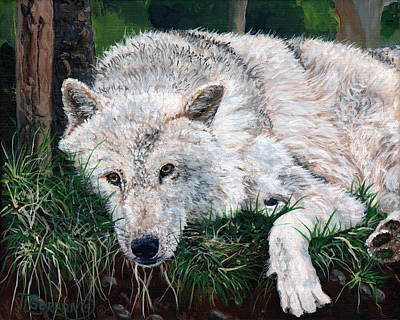 Wild Animals Painting - What Are You Looking At by Timithy L Gordon