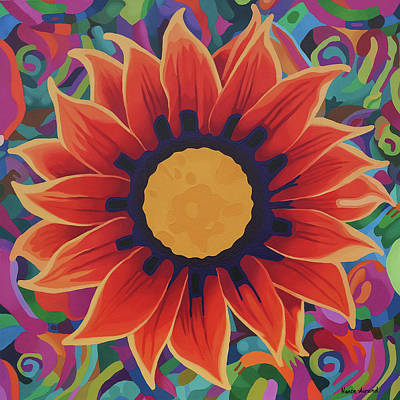 Flower Painting - What Blooms Within by Nancy Aurand-Humpf