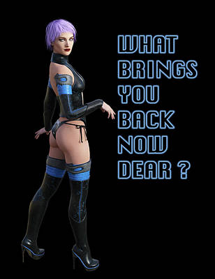 Digital Art - What Brings You Back Now Dear by Carlos Diaz