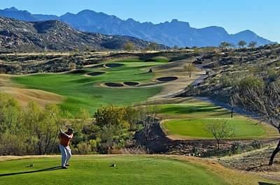 Arizona Golfer Photograph - What Bunkers? by Michael Biggs