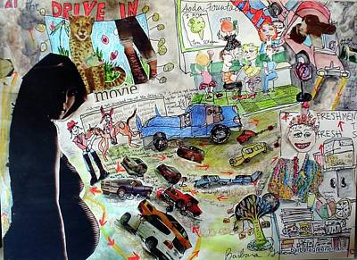 What Did You Do At The Drive In? Art Print by Barb Greene mann