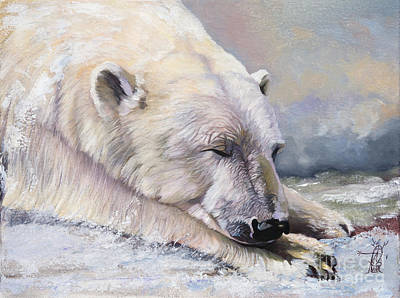 Painting - What Do Polar Bears Dream Of by J W Baker