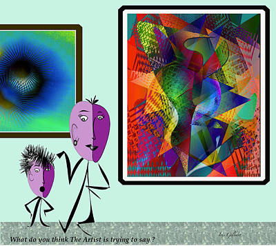 Digital Art - What Do You Think The Artist Was Thinking?     by Iris Gelbart
