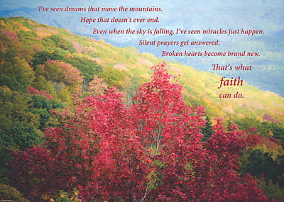 Photograph - What Faith Can Do by Debbie Karnes