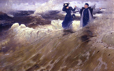 Wave Painting - What Freedom by Ilya Repin