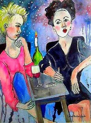 Painting - What Friends Are For by Esther Woods
