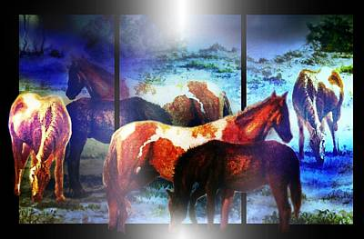 What  Horses Dream Art Print by Hartmut Jager