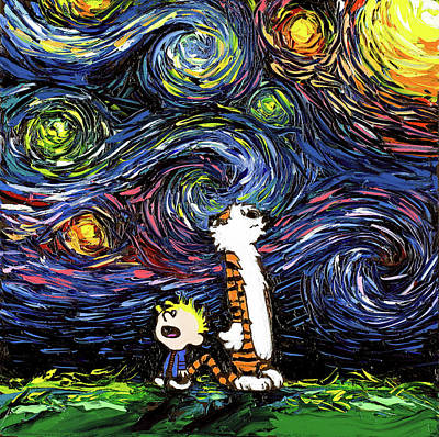 Calvin Painting - What If Van Gogh Had An Imaginary Friend? by Aja Apa-Soura
