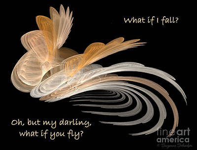 Digital Art - What If You Fly Awecillations by Suzanne Schaefer