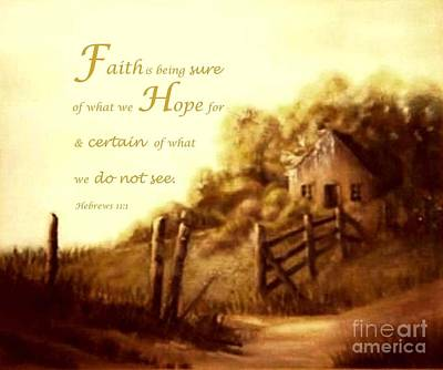 Painting - What Is Faith by Hazel Holland