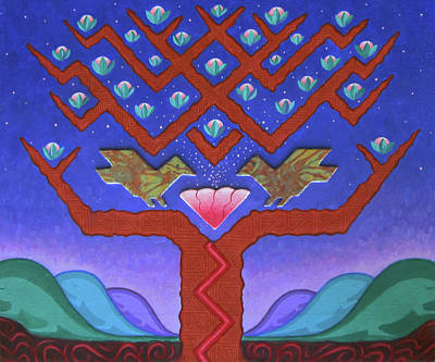 Origins Of Life Painting - Axis Mundi by Jeff Sartain