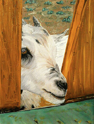 One Horned Painting - What Is Outside? by Maria Woithofer