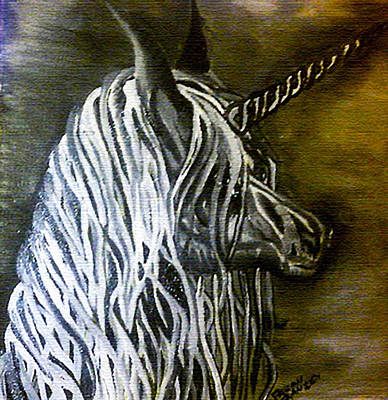 Unicorn Painting - What Is Reality by Fallon Franzen