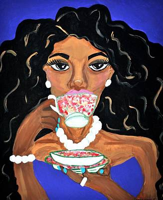 Pink Painting - What Is The Tea by Diamin Nicole