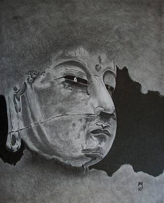 Buddhist Painting - What Is Your Original Face by Nick Young