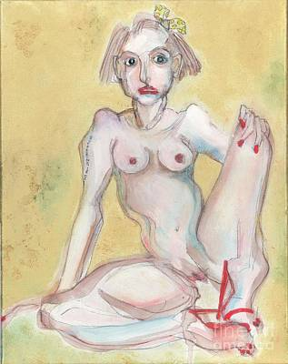 Myself Painting - What It Was Really Like - Self Portrait by Carolyn Weltman