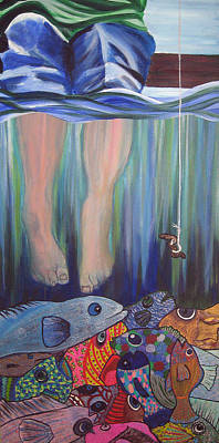 Lottery Mixed Media - What Lies Beneath Or Manna From Above by Teresa Hay