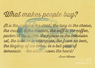 Steak Photograph - What Makes People Buy by Edward Fielding