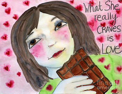 What She Really Craves Is Love Art Print