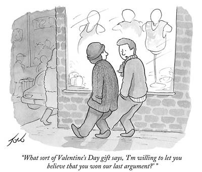 Drawing - What Sort Of Valentine Gift by Tom Toro
