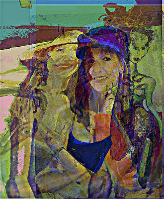 Chatting Mixed Media - What That You Say by Noredin Morgan