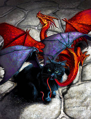 Dragon Digital Art - What The Catabat Dragged In by Stanley Morrison
