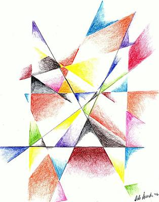Colorful Abstract Drawing - What The Doctor Saw by Dale Arends