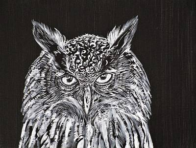 Painting - What The Owl Sees by Fabrizio Cassetta