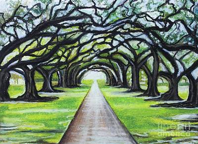 Painting - What These Old Oaks Have Seen by Elizabeth Robinette Tyndall
