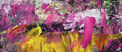 Painting - Whatever Makes You Happy - Large Pink And Yellow Abstract Painting by Modern Art Prints