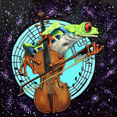 Painting - What's It All About Froggy? by John Lautermilch