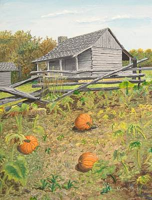 Painting - What's Left Of The Old Homestead by Norm Starks