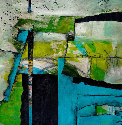 Lime Green Mixed Media - What's Up  by Laura  Lein-Svencner