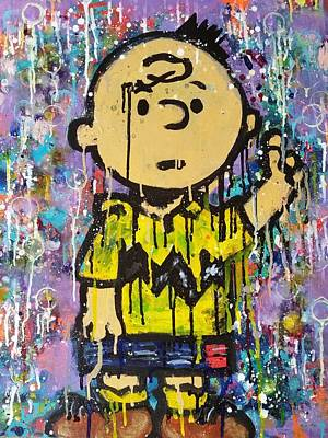 Acrylic Painting - What.up.chuck by A MiL