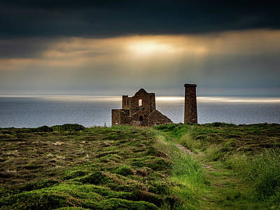 Photograph - Wheal Coates Sunspots by Framing Places