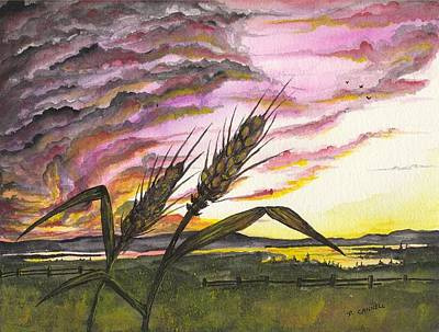 Painting - Wheat Field by Darren Cannell