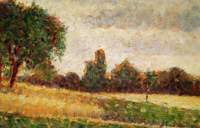 Neo-impressionism Painting - Wheat Field by Georges Pierre Seurat