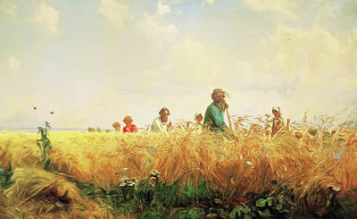 Mixed Media - Wheat Field In The Summer by Georgiana Romanovna