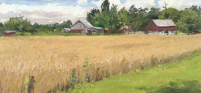 Wall Art - Painting - Wheat Field by Katherine Farrell