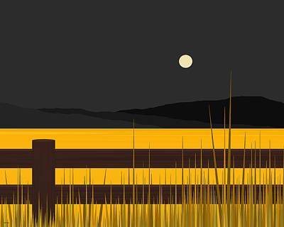 Moonglow Digital Art - Wheat Field by Val Arie