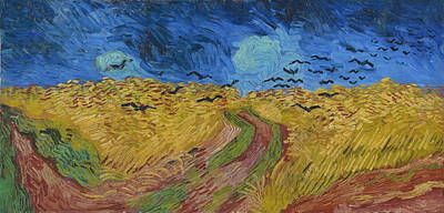 Agronomy Painting - Wheat Field With Crows, 1890 by Vincent Van Gogh