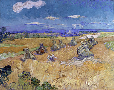 Stack Painting - Wheat Fields With Reaper, Auvers by Vincent van Gogh