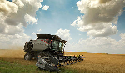Gleaners Photograph - Wheat Harvest Combine 2016 by Chris Harris