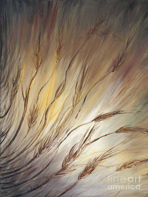 Wheat Field Painting - Wheat In The Wind by Nadine Rippelmeyer